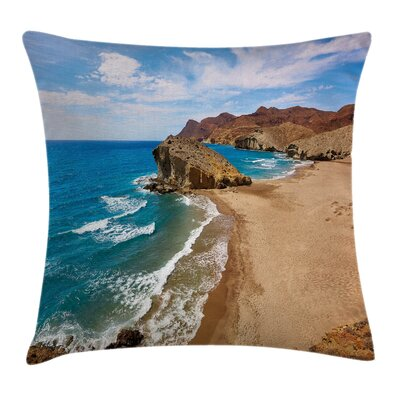 Summer Beach Spain Square Pillow Cover Size: 18 x 18