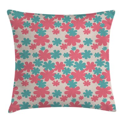 Big Flowers Burst Lush Cushion Pillow Cover Size: 18 x 18