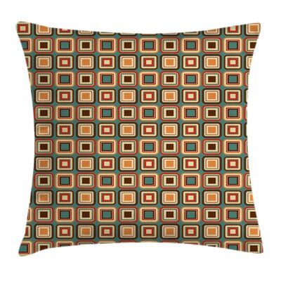 Modern Decor Geometric Rounded Cushion Pillow Cover Size: 16 x 16