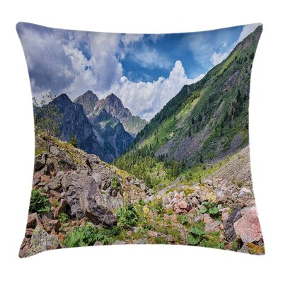 Mountain Wild Rhubarb Square Pillow Cover Size: 16 x 16