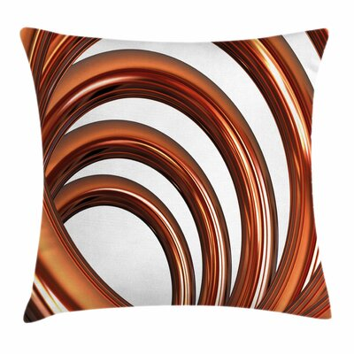 Helix Coil Spiral Square Pillow Cover Size: 16