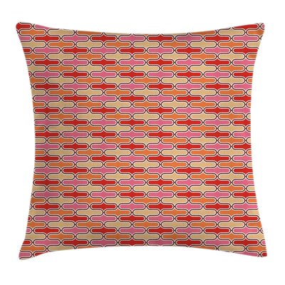 Bands Round Edged Square Pillow Cover Size: 24 x 24