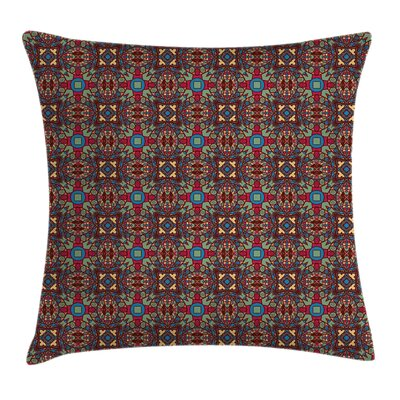 Geometric Floral Details Cushion Pillow Cover Size: 24 x 24