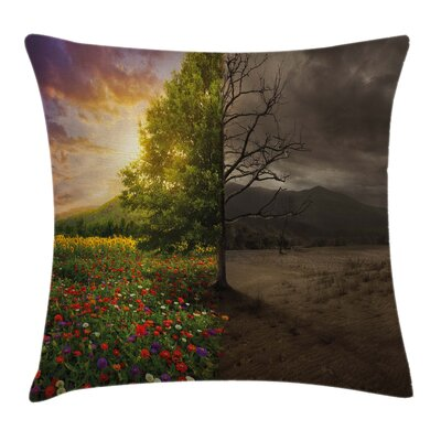 Forest Light and Dark Contrast Cushion Pillow Cover Size: 20 x 20
