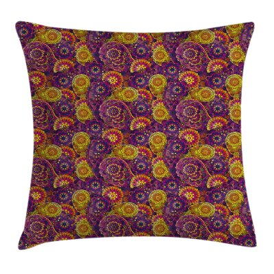 Oriental Curvy Paisley Cushion Pillow Cover Size: 18 x 18