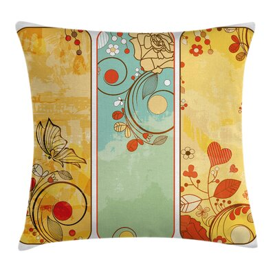 Floral Graphic Pillow Cover Size: 18 x 18