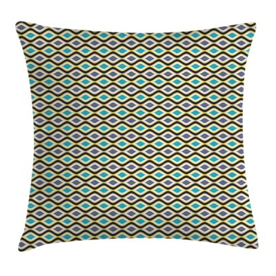 Shapes Lines Square Pillow Cover Size: 18 x 18
