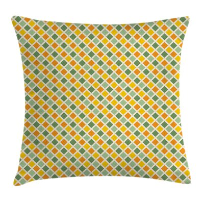Classic Checkered Striped Square Pillow Cover Size: 20 x 20
