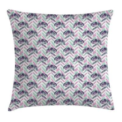 Bohemian Parrot Skulls Zig Zag Square Pillow Cover Size: 24 x 24