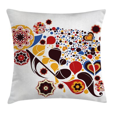 Modern Graphic Print Pillow Cover Size: 18 x 18