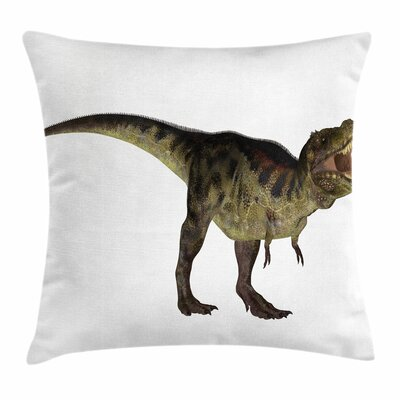 Dinosaur Prehistoric Reptilian Square Cushion Pillow Cover Size: 16 x 16