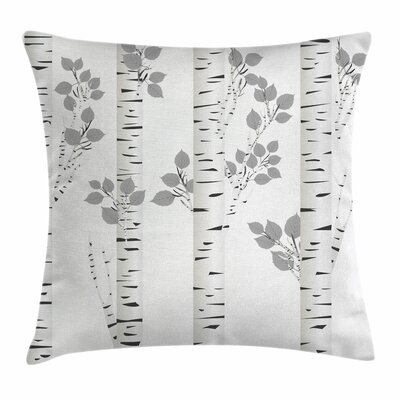 Birch Tree Artsy Autumn Woods Square Pillow Cover Size: 20 x 20