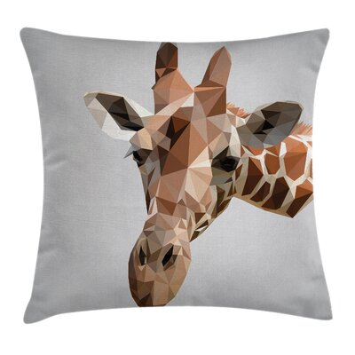 African Safari Wildlife Cushion Pillow Cover Size: 20 x 20