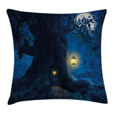 House in the Tree Pillow Cover Size: 18 x 18