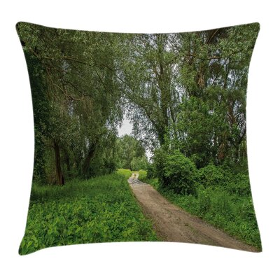 Sunny Day in Meadows Square Pillow Cover Size: 24 x 24