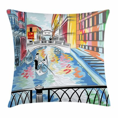 Sketch Bridge Square Pillow Cover Size: 18 x 18