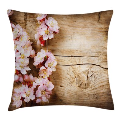 Spring Blossom Orchard Cushion Pillow Cover Size: 18 x 18