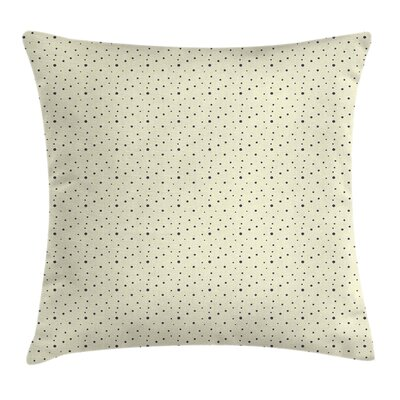 Polka Dots Galaxy Like Square Pillow Cover Size: 18 x 18