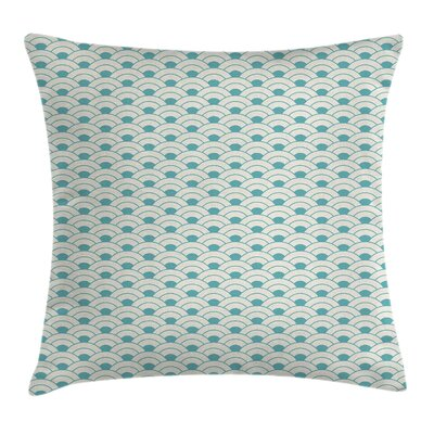 Bold Circles Sea Inspired Square Pillow Cover Size: 18 x 18