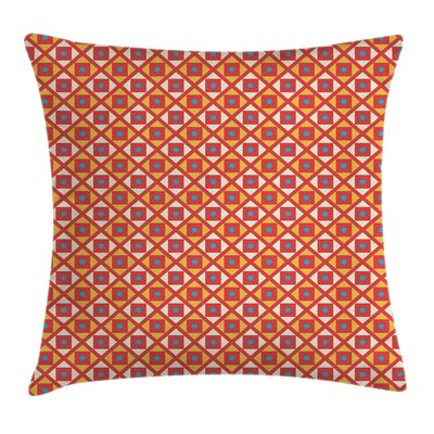Dots Squares Checked Cushion Pillow Cover Size: 18 x 18