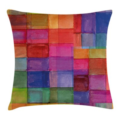 Rainbows Squares Square Pillow Cover Size: 16 x 16
