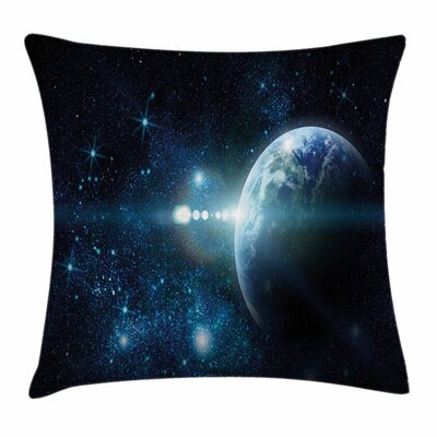 Mysterious Outer Space Square Pillow Cover Size: 24 x 24