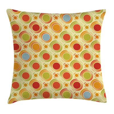 Dots Striped Square Pillow Cover Size: 18 x 18