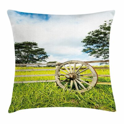Wheel Fresh Meadow Square Pillow Cover Size: 16 x 16