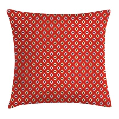 Geometric Figures Vibrant Square Pillow Cover Size: 18 x 18