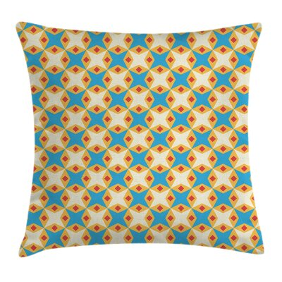 Retro Geometrical Floral Cushion Pillow Cover Size: 16 x 16