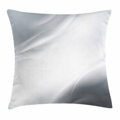 Ombre Lines Square Cushion Pillow Cover Size: 24 x 24