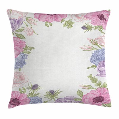 Anemone Summer Flora Square Cushion Pillow Cover Size: 24 x 24