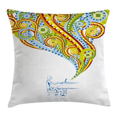 Modern Pianist Pillow Cover Size: 18 x 18