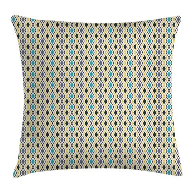 Oval Drop Like Forms Square Pillow Cover Size: 24 x 24