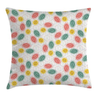 Modern Leaf Pattern Square Pillow Cover Size: 18 x 18