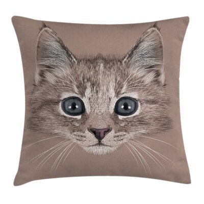 Animal Square Pillow Cover Size: 18 x 18