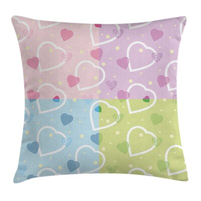 Hearts Graphic Pillow Cover Size: 18 x 18