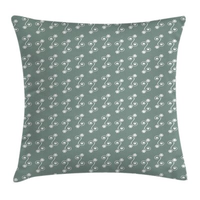Floral Tulips Feminine Square Pillow Cover Size: 18 x 18