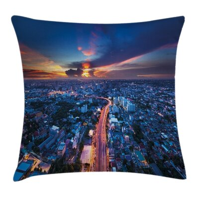 City Sunset Pillow Cover Size: 18 x 18