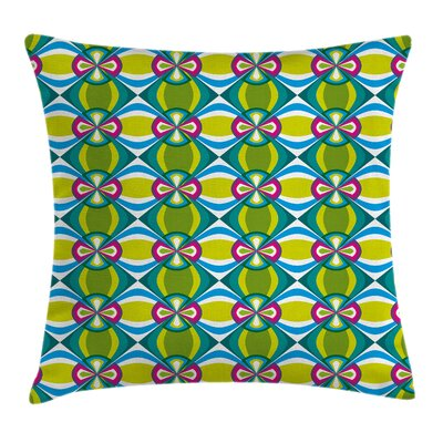 Modern Graphic Print Pillow Cover with Zipper Size: 18 x 18