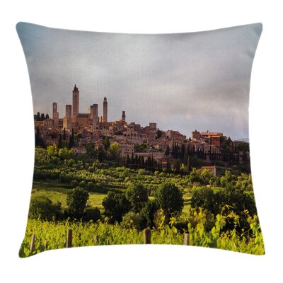 Medieval City in Italy Square Pillow Cover Size: 18 x 18