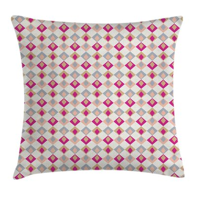 Checkered Pattern Soft Square Pillow Cover Size: 16 x 16
