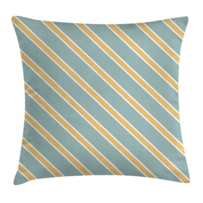 Bold Thin Stripes Cushion Pillow Cover Size: 16 x 16