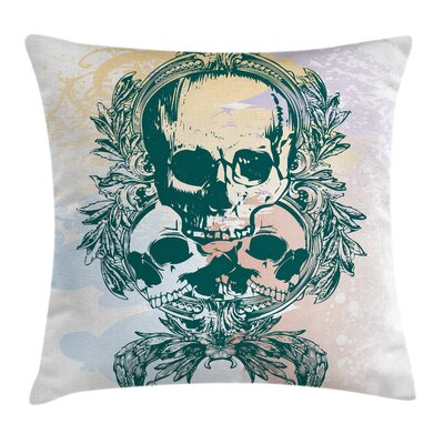 Skull Scary Deadly Rocker Trio Cushion Pillow Cover Size: 16 x 16