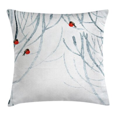 Birds Watercolor Pillow Cover Size: 16 x 16