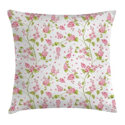 Blossom Buds Cushion Pillow Cover Size: 18 x 18