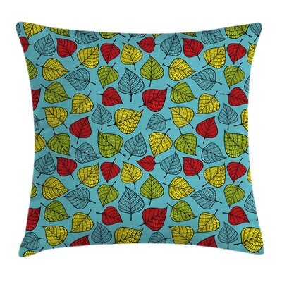 Autumn Leaves Square Pillow Cover Size: 16 x 16