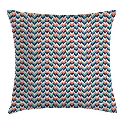 Modern Chevron Square Pillow Cover Size: 18 x 18