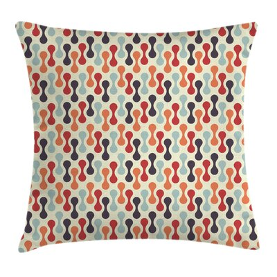Vertical Abstract Form Square Pillow Cover Size: 18 x 18