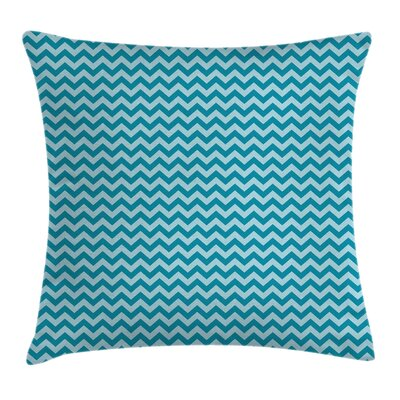 Chevron Sea ed Zigzags Cushion Pillow Cover Size: 24 x 24